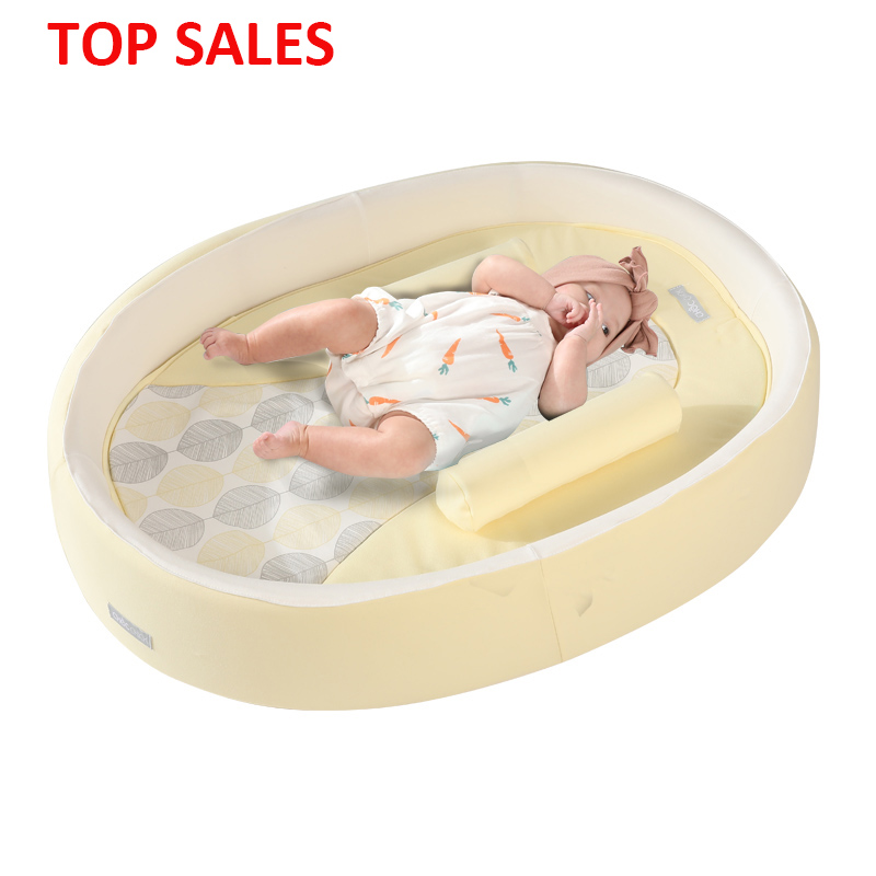 Folding Travel New Born Co-Sleeping Infant Round Cradle Bed Cribs Baby Nest Lounger Set