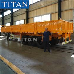 TITAN 20 foot 3 axle container flatbed semi trailer for sale