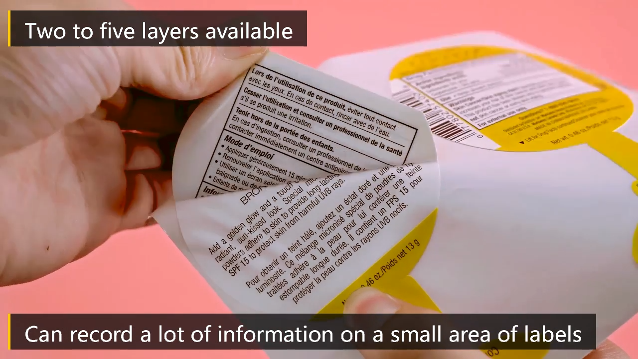 Custom Specification Instruction Printed Adhesive Multi-layer Sticker Label