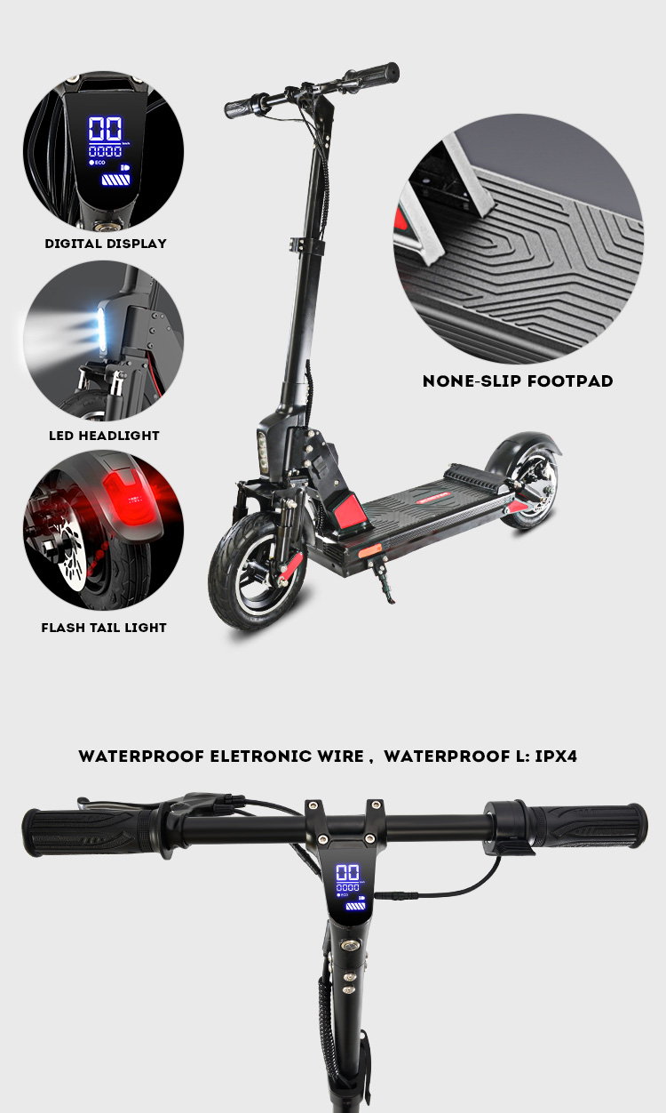 2020 China new product 350w powerful motor foldable outdoor electric scooter with ce certification for adults