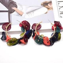 Женские массивные серьги-подвески ZA, длинные серьги в форме цветка, большие серьги-подвески, аксессуары для женщин, новое поступление(Китай)