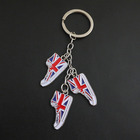 Creative Shoes Shape Metal Crafts UK Flag Keyring Shoes Soccer Key Ring Keychain