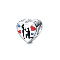 charm Love bracelets for women fit for pandora charms 925 sterling silver wedding charm