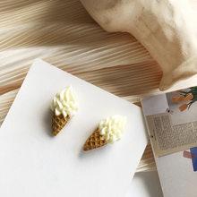 Женские серьги-гвоздики с мороженым, милые серьги-гвоздики из полимерной смолы для молодых девушек и студенток, подарочные украшения(Китай)