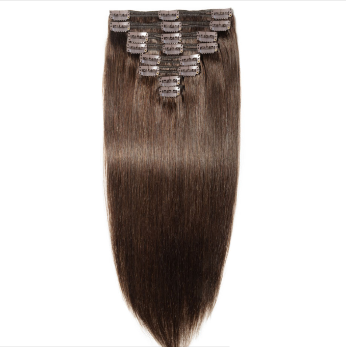 Wholesale supplier brazilian clip in human hair extensions