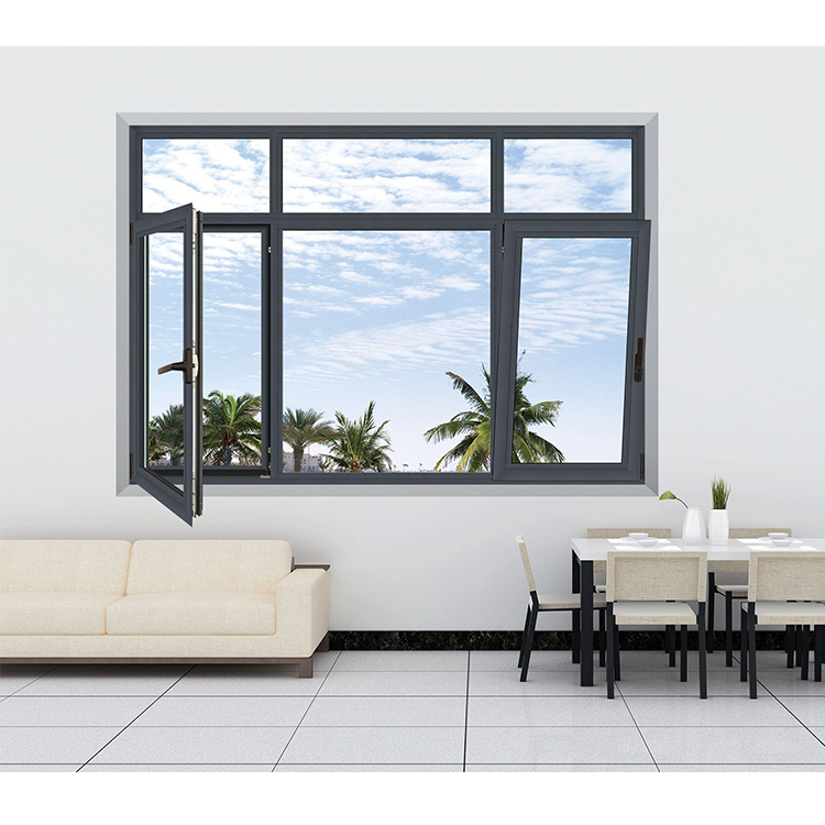 soundproof thermal insulation glass Hinged windows outward open casement window for house or villa