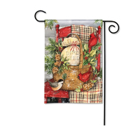 Personalized Polyester Outdoor Custom Sublimation Christmas Holiday Garden Flag