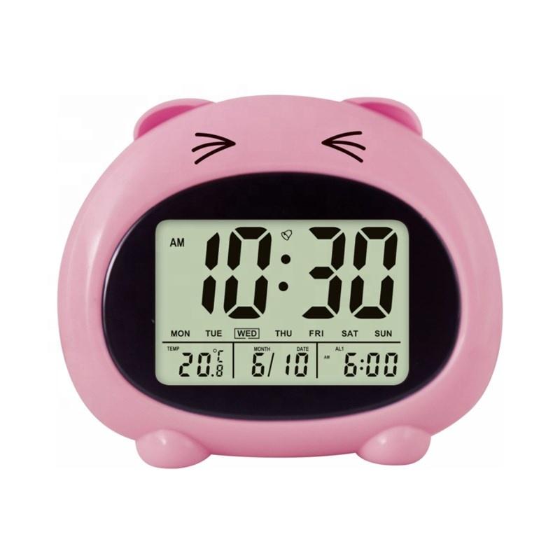 KH-CL131 Multifunctional Desktop Digital Calendar Temperature Display English Talking Animal Alarm Clock for Kids