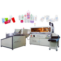S102 Single color auto screen printer with LED-UV system for round oval square bottles