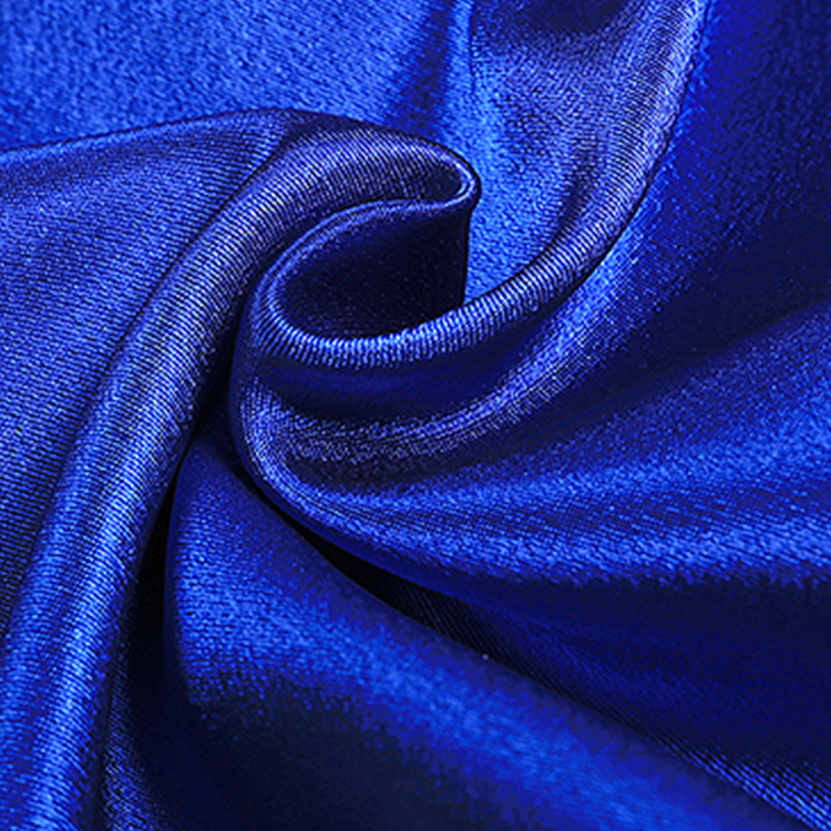 100% polyester soft satin textile fabric with different color