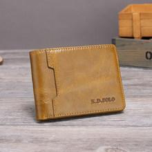 XDBOLO мужские бумажники из натуральной кожи, мужской кошелек на молнии с карманом для монет, высококачественный мужской кошелек(Китай)