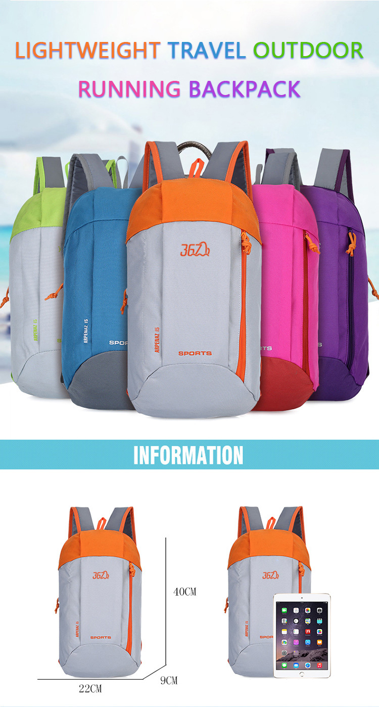 Stock China waterproof backpack travel lightweight polyester foldable backpack