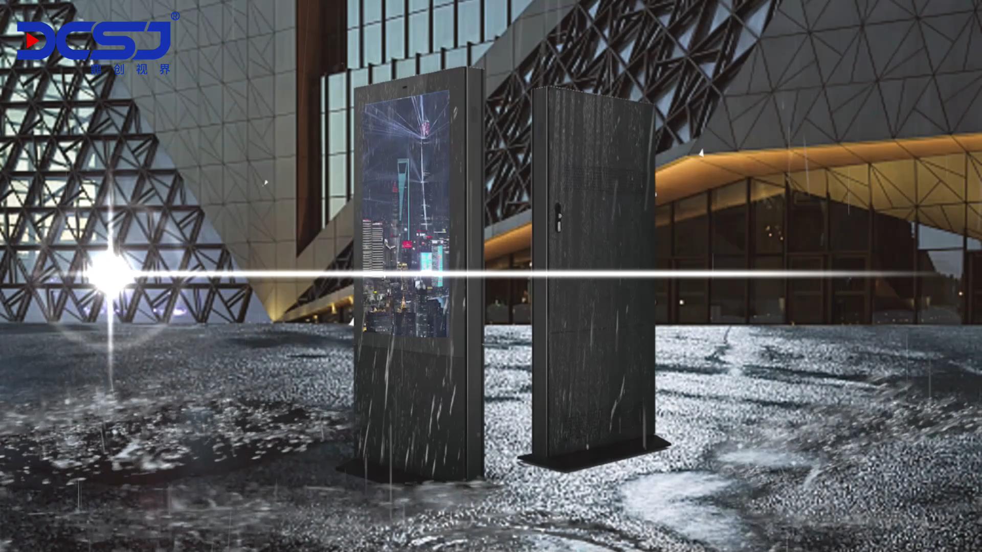 Iklan Outdoor LCD Display Digital Signage Outdoor Papan Informasi Kios