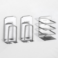 Toothpaste holder 304 Stainless Steel Toothbrush Holder Toothpaste Stand Holder Bathroom Accessories