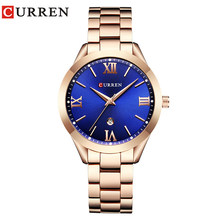Часы CURREN женские, стальные, золотого цвета, 9007(Китай)