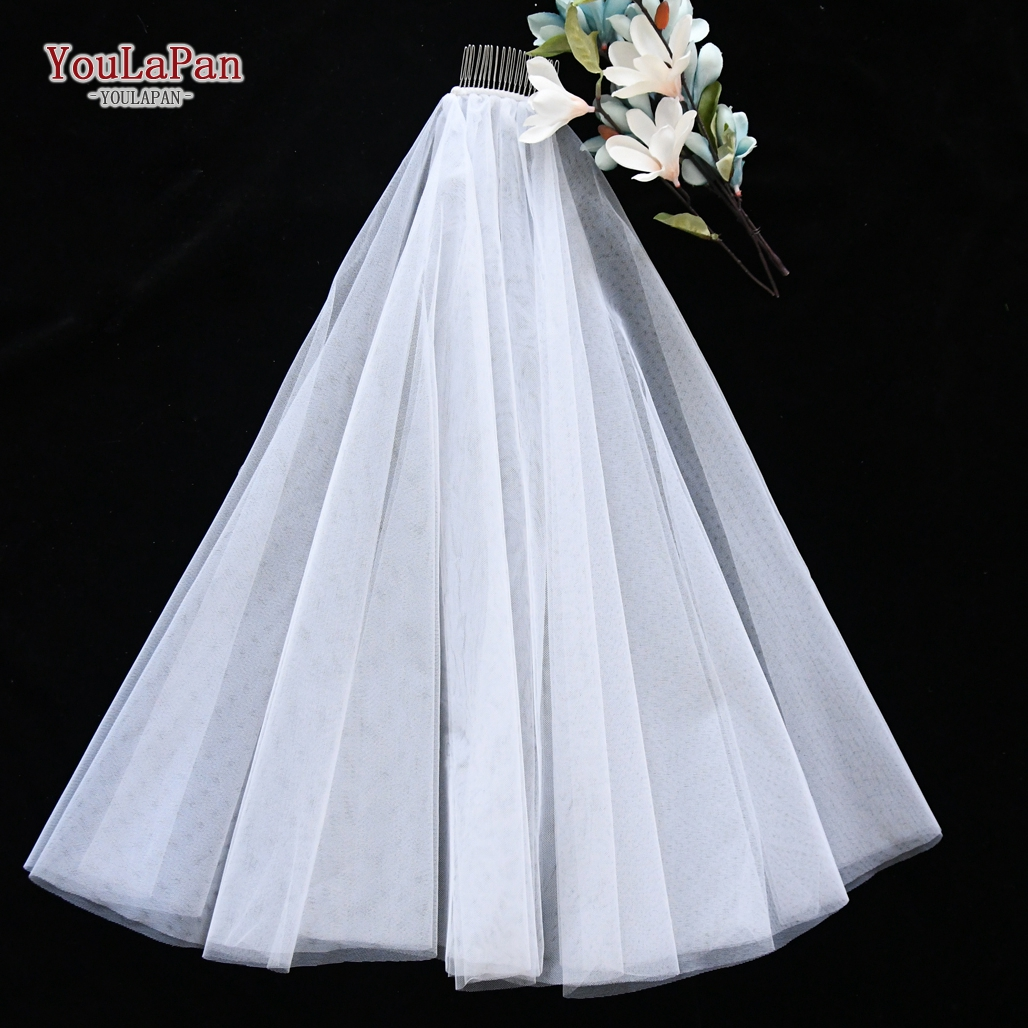 YouLaPan <strong>V26</strong> Handmade Tassel Wedding Bridal Veils , Long Wedding Veil with Bowknot
