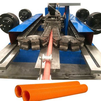plastic flexible corrugated conduit machine/spiral pipe production line