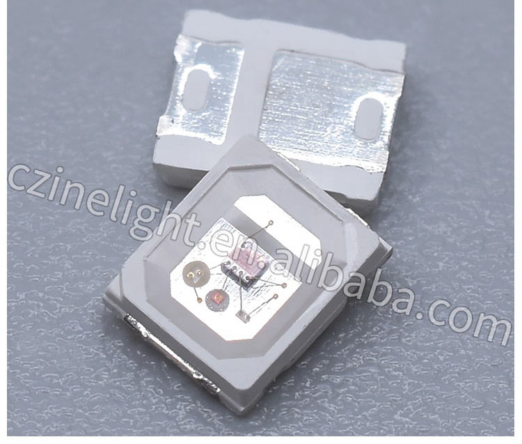 Czinelight 2835 Tri-color Led Diode Ic Built In Fast/slowly Flashing 2835 Rgb Smd Led Emitting Diode 1000pcs/bag