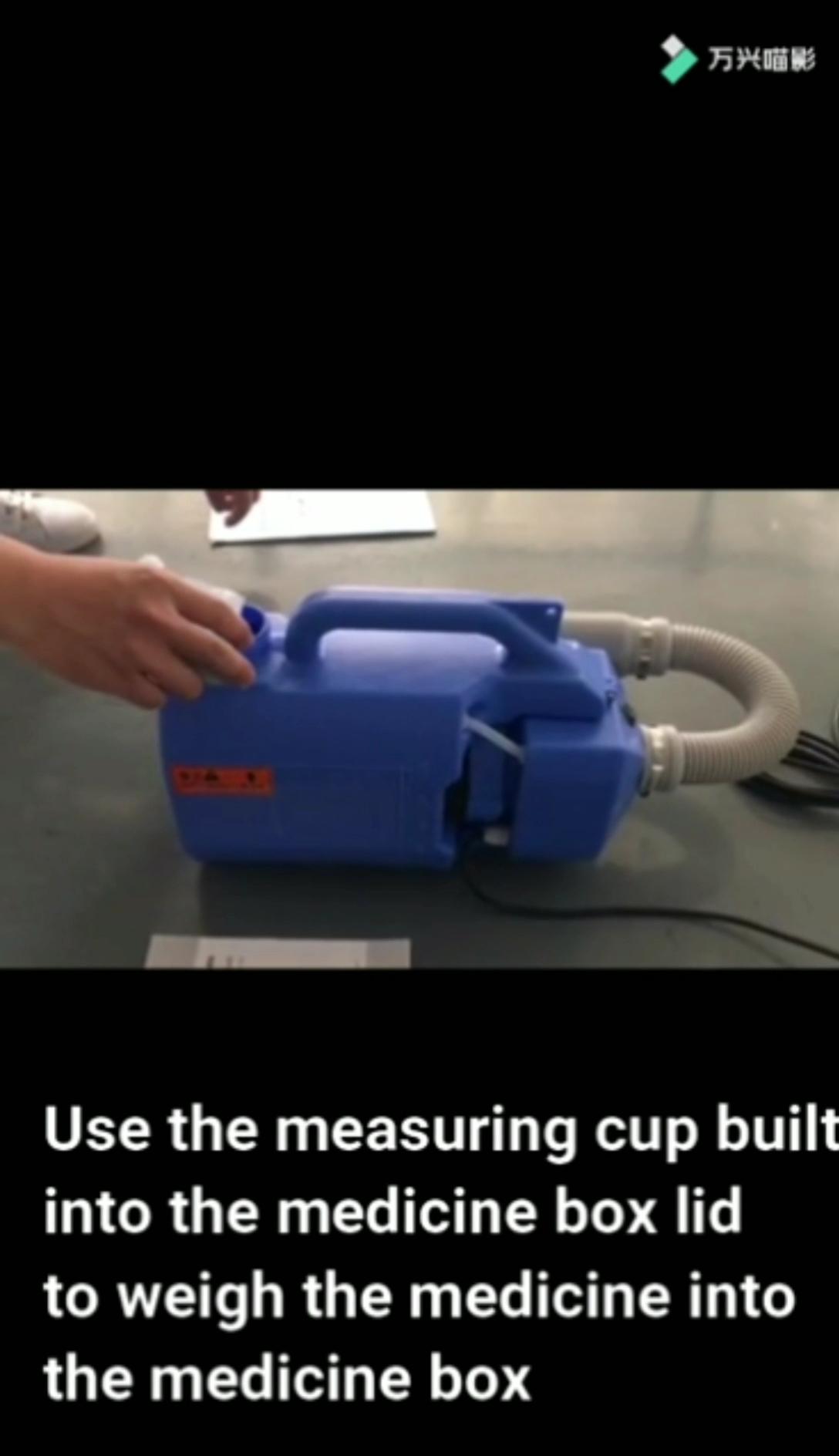 Vente chaude sac à dos agriculture désinfection professionnelle pulvérisateur froid machine brouillard portatif électrique ulv fogger pour l'école