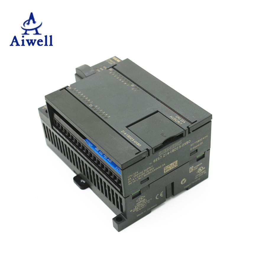 Automation ควบคุมยี่ห้อ Analog PLC ราคา Siemens PLC S7 200 6ES7214-1BD23-0XB0 Harga ราคา Traders ผู้ผลิต