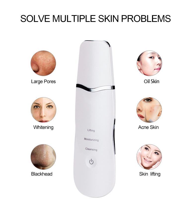 Épurateur de peau à ultrasons pour un usage professionnel pour enlever les points noirs