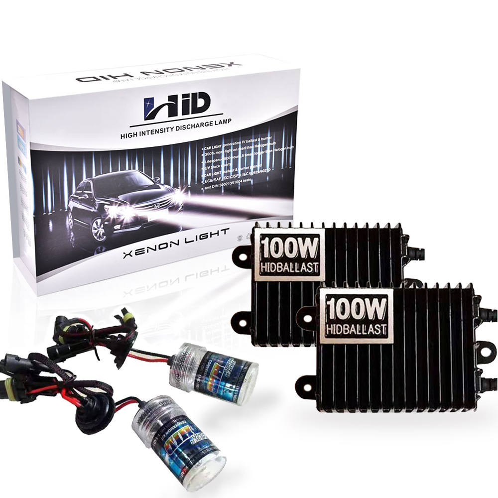 Factory price high power 100w xenon hid hi/low bulbs h1 h7 h11 d1s d2s d3s hid xenon ballast kit
