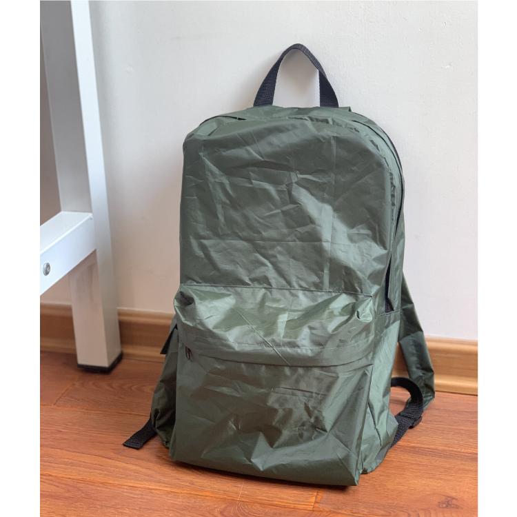 2020 latest design custom outdoor ultralight waterproof foldable teenage backpack with raincoat