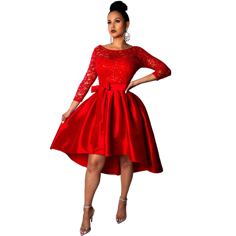 HG2003# Quality <strong>Silk</strong> Women Fashion <strong>Dress</strong> Satin Long Sleeve Lace Western Butterfly Belt Elegant Vestido De Renda <strong>Dress</strong>