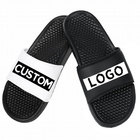 cheap slipper custom print design rubber slides footwear men slides, custom logo slide sandal with massage sole