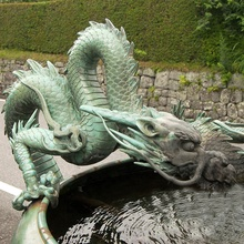 Outdoor antieke water feature brons metal dragon <span class=keywords><strong>standbeeld</strong></span>