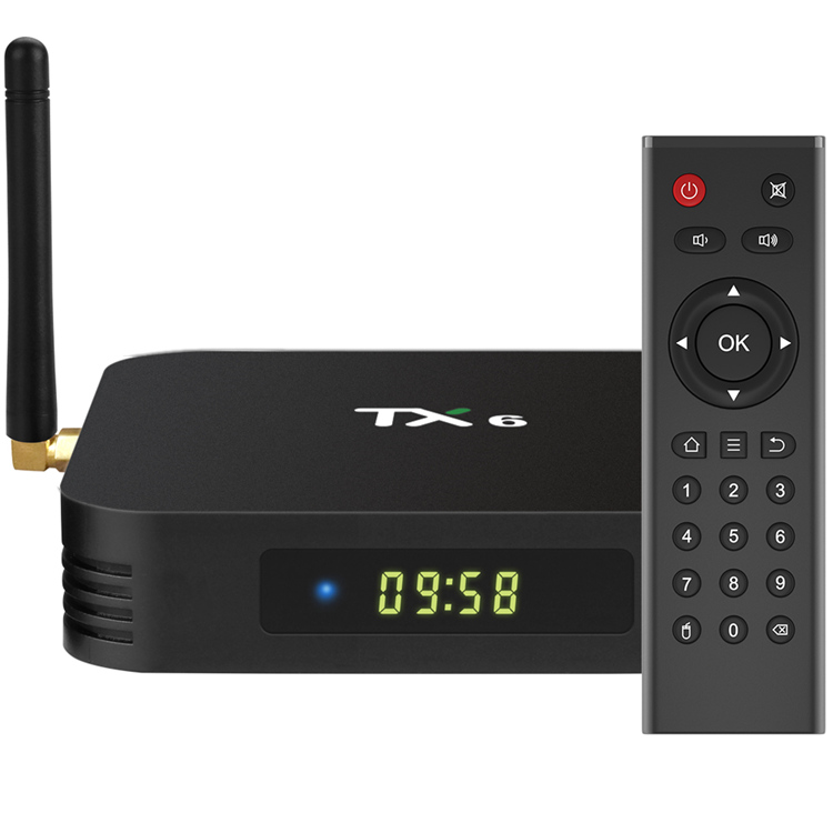 Hot Cheap TANIX TX6 H6 4GB RAM 64GB ROM Dual WiFi Quad Core 1080p 6K Ultra HDR Smart Android TV Box Streaming Media <strong>Player</strong>