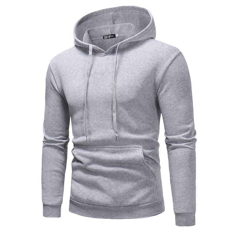 2019 New Autumn Winter Men Polo Sweater Shirt Oem Custom Logo Hoodies With Pocket 9