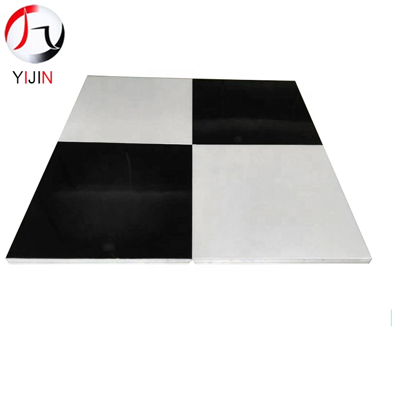 Hotel manufacture directly sale oak wood black and white portable hotel wedding event party dance floor