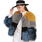 High Quality Winter Coat Fur/ Women Warm Colorful Fur Silver Fox Coat