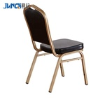 Steel Chair Customized Cheap Metal Steel Iron Banquet Hall Chair For Hotel Restaurant Catering Stackable