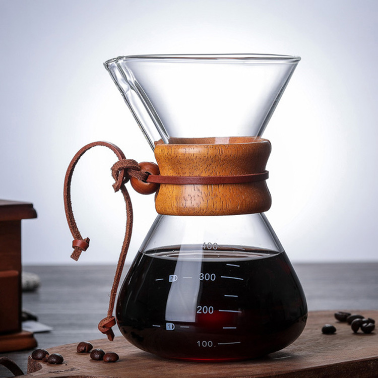 Borosilicate glass pendant coffee pot 600ml
