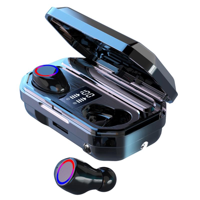 2000mAh M12 9D TWS Fone de Ouvido Bluetooth 5.0 Música Toque Verdadeiro Baixo Fones De Ouvido Estéreo Fones De Ouvido Sem Fio Fones de Ouvido Sem Fio