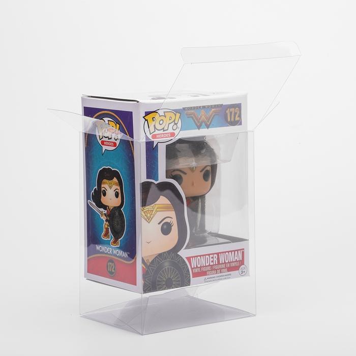 स्पष्ट प्लास्टिक खिलौना प्रदर्शन संरक्षण बॉक्स 4 ''6'' एसिड-नि: शुल्क पालतू Funko पॉप रक्षक
