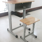 High quality single wooden school study students desk table