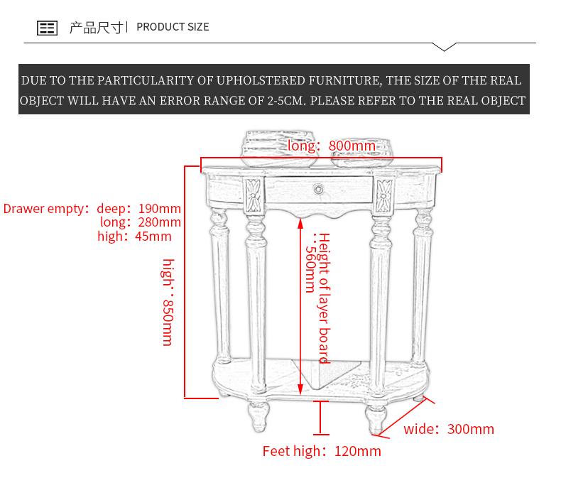 Деревянная консоль стол Гостиная мебель Наборы современный Прихожая стол МДФ входной стол