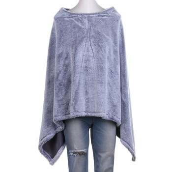Fast Delivery Women cashmere Solids Poncho Towel Shawl Faux Fur Cape