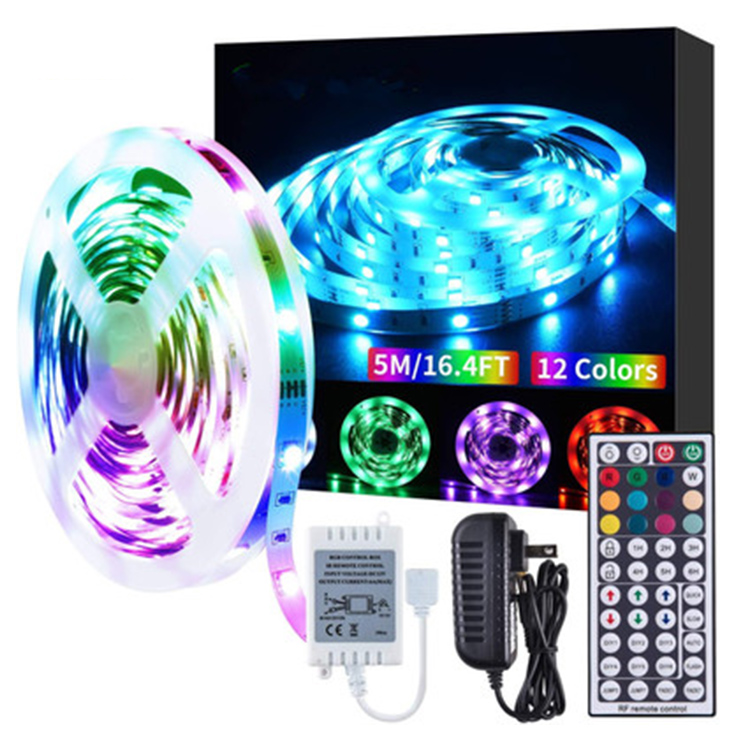 Suppliers 16.4ft/5M Smart Wifi Remote Control Waterproof 12v Rgb Colored Led Strip Lights 5050