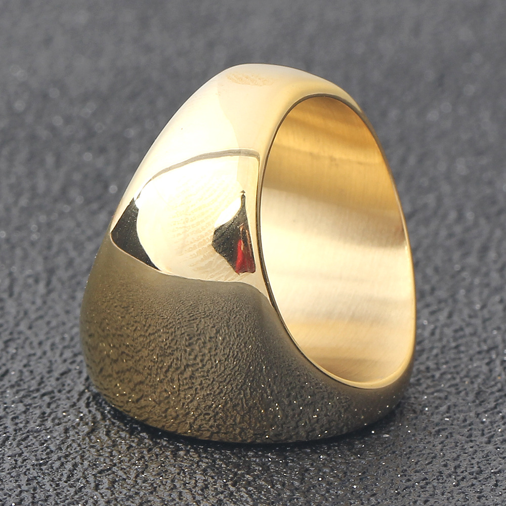 316L Men Metal Ring Blanks Latest Gold Plated Finger Ring Designs Fashion Military Simple Silver Stainless Steel Ring
