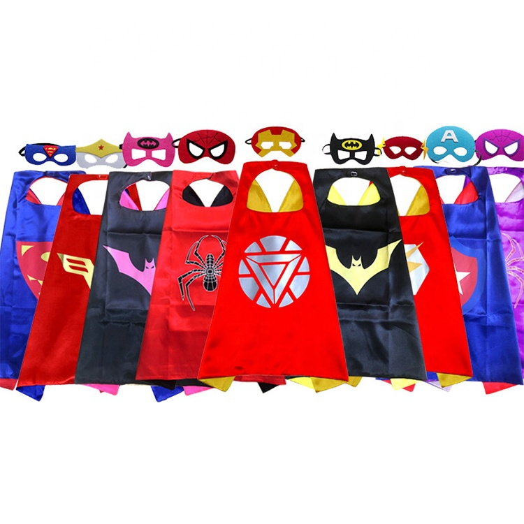 Double Layer Custom Logo Wholesale <strong>Superhero</strong> <strong>Capes</strong> For <strong>Kids</strong>