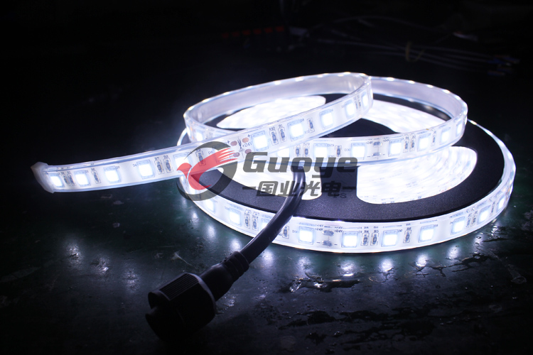 Factory IP68 waterproof underwater led light with 5050 60leds 14.4W rgb white color waterproof led pool strip lights