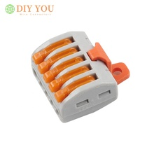 5 Pin 222-415 Type PCT-215 With YL-21 Fixed fitting Universal Terminals Block Plug in Electrical Cable Wire Wiring Connectors