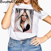Новое поступление 90S Harajuku Женская мода Девушка Vogue Сексуальная девушка футболка с принтом счастливые эстетические мягкие топы размера плюс ...(Китай)