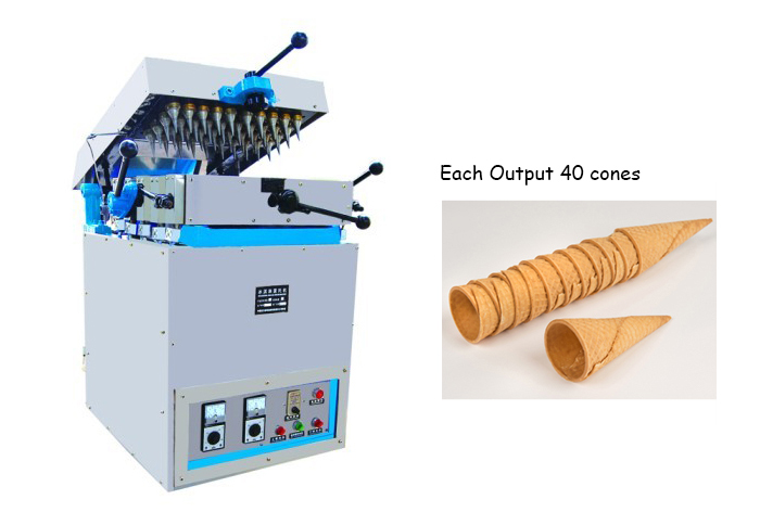 Each Output 40 Cones Ice Cream Cone Manufacturing Machine