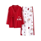 Wholesale Spring and Autumn High Quality Ladies Cotton Pajamas and Kimono Suits