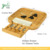 Wholesale High Quality Checked Designed  Bamboo Cutting Board  With Ceramic Dish